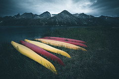 And then, Silence (One_Penny) Tags: adventure arctic canon6d greenland hiking landscape mountains nature northpole outdoor photography phototour travel kajak boat colors yellow red green grass dark sinister moody atmosphere sky clouds mountainscape fjord river light sports retro