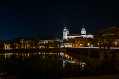 St. Stephan's Cathedral at Night - Passau, Germany (dejott1708) Tags: st stephans cathedral passau inn river old town germany architecture reflections night shot stars