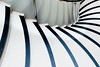 Fanning out (Maerten Prins) Tags: england brittain londen london tate museum stair stairs staircase stairwell spiral white black down curve curves reflection geometry geometric lines