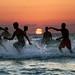 Playing & Bathing at Sunset - Tel-Aviv beach - October 21  2017