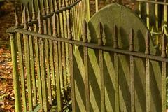 NoEscape (Tony Tooth) Tags: nikon d7100 tamron 2470mm railings shadow cemetery graveyard october lowsun leek staffs staffordshire