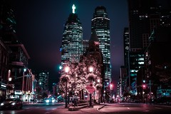 Late nights, city lights. (katielbroad) Tags: city roah road toronto ontario downtown building sky dark cars long exposure beautiful awesome amazing cool camera canon photography photographer gooderham travel canada architecture cn tower adventure nightlife night nighttime