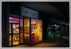 Eagle St. Music (Timothy Valentine) Tags: night 2017 window fbpost wednesday 1017 vacation music store n northadams massachusetts unitedstates us