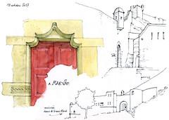 Marvao (gerard michel) Tags: portugal alentejo marvao citadelle sketch croquis