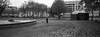 (Paysage du temps) Tags: 20160713 film france hasselblad hasselblad45mm kodak nevers nievre tmax100 xpan manege merrygoround fontaine fountain escargot snail feuilles mortes dead leaves automne autumn