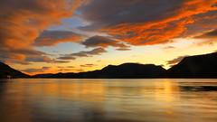 Sandeid okt -17 (bjarne.stokke) Tags: langlukkertid skyer sunset solnedgang rogaland ryfylke norway norge norwegen speiling reflections