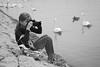 Litlle photographer/Mali fotograf (salaminijo) Tags: litllephotographer girl kids portreit people portret face outdoor monochrome pics shots photo canon eos bokeh swarzweiss crnobela bw blackandwhite bianconero ser water portrait light dete
