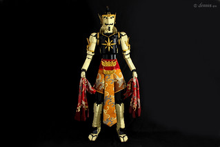 GatotKaca Iron boned Ashura Hunter  Inspired from Indonesia Wayang kulit performance, Gatotkaca is a half blood Ashura who had been born with the body of an adult.  He can fly across the skies like lightning and hunt down is enemies the Ashuras.  Fearless