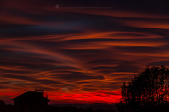 Red Sunset (iLaura_) Tags: sunset red tramonto rosso sera allaperto landscape panorama