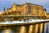 Museum of Medieval Stockholm (Vasilis Tsikkinis) Tags: snow water sweden stockholm longexposure night museum