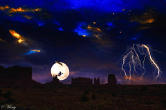 Halloween Monument Valley, Arizona :) (concho cowboy) Tags: halloween
