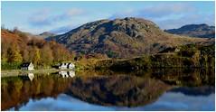 Highland morning...Stronachlachar. (A tramp in the hills) Tags: stronachlachar scotland lochkatrine highlands trossachs autumn blue cottage theoldsmiddy