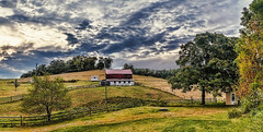IMG_5221-24cPtzl1scTBbLGER (ultravivid imaging) Tags: ultravividimaging ultra vivid imaging ultravivid colorful canon canon5dmk2 clouds farm fields rural scenic vista pennsylvania pa panoramic painterly stormclouds sunsetclouds sky autumn autumncolors barn rainyday twilight evening