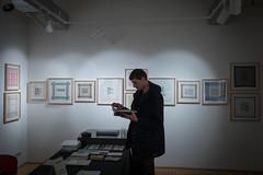 photoset: Literaturhaus: Ausstellung Sabine Groschup / Lesung Aufzeichnungssysteme (30.10.2017)