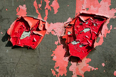 Day #3555 (cazphoto.co.uk) Tags: panasonic lumix dmcgx8 panasonic1235mmf28lumixgxvarioasphpowerois project365 beyond3288 240917 fobbing grey metal paint peeling pink red abstract
