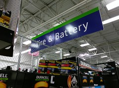 Come see the (slightly) less glaring side of tires and batteries (l_dawg2000) Tags: 2017remodel apparel café desotocounty electronics food gasstation meats mississippi ms pharmacy photocenter remodel samsclub southaven tires walmart wholesaleclub unitedstates usa