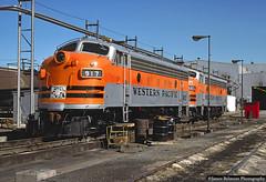 Western Pacific F7s (jamesbelmont) Tags: emd f7a saltlakecity utah streamliner unionpacific westernpacific railway shop