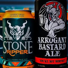 Stone Brewing - Ripper San Diego Pale Ale and Arrogant Bastard Ale - Escondido CA (mbell1975) Tags: centreville virginia unitedstates us stone brewery ripper san diego pale ale arrogant bastard escondido ca beer bier pivo øl cerveza birra cerveja piwo bira bière biere american