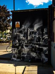 MrJiver (Steve Taylor (Photography)) Tags: mrjiver graffiti mural streetart abstract art gate uk gb england greatbritain unitedkingdom london shadow bike bicycle cycle