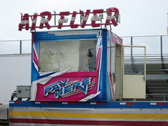 Air Flyer Pay Here. (dccradio) Tags: lumberton nc northcarolina robesoncounty outside bigrockamusements carnival midway fairride amusements amusementdevice mechanicalride ride rides thrillride outdooramusement fun entertainment outdoors robesonregionalagriculturalfair fair countyfair robesoncountyfair communityevent canon powershot a3400is overcast cloudy airflyer swingtower swings carnivalswings swingride