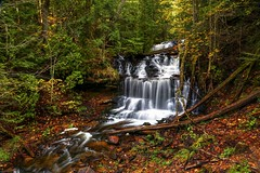 Wagner Falls in Autumn (Cole Chase Photography) Tags: waterfall autumn fall october upperpeninsula michigan
