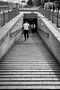 Going underground (Go-tea 郭天) Tags: pékin beijingshi chine cn beijing underground chanel tunel corridor long stairs man woman going down walking walk movement pedestrians lines easy easier street urban city outside outdoor people bw bnw black white blackwhite blackandwhite monochrome naturallight natural light asia asian china chinese canon eos 100d 24mm prime steps candid perspective back backside