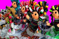 MEXICAN DOLLS. (Viktor Manuel 990.) Tags: dolls muñecas handicrafts artesanías brightcolors coloresbrillantes digitalart artedigital querétaro méxico victormanuelgómezg