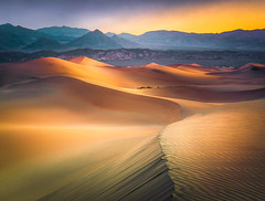 Mesquite flat sand dunes (andreassofus) Tags: deathvalley mesquiteflatsanddunes sanddunes dunes sand summer sunrise light shadow lines sky clouds desert america usa travel travelphotography landscape grandlandscape nature amazing beautiful colorful color sunlight nopeople mountains mountainscape shape abstract outdoor hike hiking