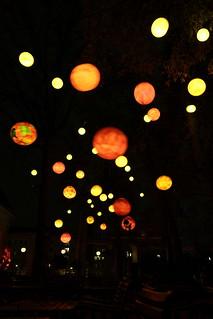Lampions im Pfefferberg Sommergarten