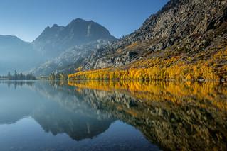 Silver Lake Fall Morning Reflection
