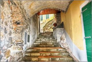 Village Street, Tellaro, Italy