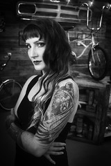 Angelika (justintfirefly) Tags: fashion dark gypsy witch tattoo pinup custom bicycle portrait handmade clothing occult horror
