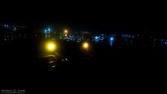 Phantom 4 Pro Foggy Night Photo (Rick Drew - 21 million views!) Tags: dji drone phantom4 pro dark evening lights street road fog rain mist glow night il illinois