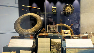 Inside one of the Museums devoted to navel history inof the Battle of Jutland in 1916, Portsmouth Historic Dockyard in September 2017, Portsmouth, Hampshire, England.