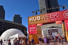 HUBweek (4) (AntyDiluvian) Tags: boston massachusetts cityhallplaza cityhall hubweek exhibition art science technology container shippingcontainer dome geodesicdome
