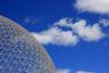 Biosphère avec des nuages (Biosphere with Clouds) (JB by the Sea) Tags: montreal montréal quebec québec canada september2017 parcjeandrapeau parcdesîles îlesaintehélène sthelensisland biosphere biosphère buckminsterfuller geodesicdome expo67 sky cloud clouds
