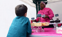 DSC_5360 Hoxton Saturday Street Market London Cake Lady in Pink Food Stall. This Lady Deserves Credit for her Colourful Presentation. Wishing Her every Success (photographer695) Tags: hoxton saturday street market london cake lady pink food stall this deserves credit for her colourful presentation wishing every success