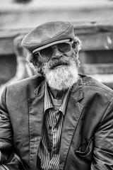 Le bijoutier @ Essaouira, Morocco (Franck Balin) Tags: noirblanc oldman 50mm d700 morocco barbe bw nb blackwhite naturallight noiretblanc lumièrenaturelle maroc portrait barbu beardedman blackandwhite essaouira beard