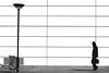 Face to face (pascalcolin1) Tags: paris13 homme man lampadaire lamppost mur wall blanc white photoderue streetview urbanarte noiretblanc blackandwhite photopascalcolin