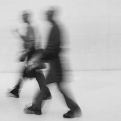 ** (donvucl) Tags: london britishmuseum figures highkey bw blackandwhite movement motion blur fujix100f donvucl