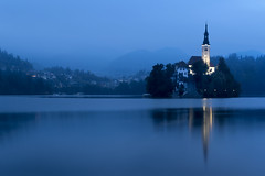 Fog In Bled (JH Images.co.uk) Tags: bled lake dri hdr water architecture art fog island mountain reflection morning church lakebled slovenia