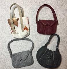 1:6 scale handbags - Weekend Sewing (Foxy Belle) Tags: doll sew handamde ooak miniature bag tote purse pocketbook felt fall 16 scale craft diy