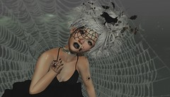 # 169 Never ever mistake her silence for weakness. Remember that sometimes the air stills, before the onset of a hurricane - Nikita Gill (Saar Whitfield) Tags: avatar virtual secondlife dpyumyum avaway slackgirl livia catwa maitreya slblog spider halloween lotd gacha photography