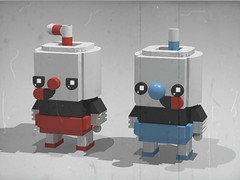 CupHead Brickheadz (front) (monkey5321) Tags: cuphead lego brickheadz cup head cartoon game