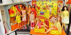 SLEEP 'N KEEP part two (ModBarbieLover) Tags: skipper barbie doll mod tnt marlo yellow pink 1967 1968 sleepwear night case sleep slumber fashion