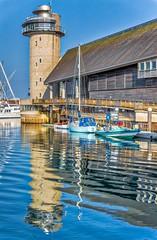 Safe Harbor (SammCox) Tags: aurorahdr cornwall england falmouth reflection unitedkingdom boat