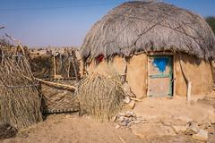 Rajasthan - Jaisalmer - Desert Safari traditional villiage-11