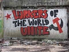 Bulgaria: Buzludzha (DJLeekee) Tags: bulgaria buzludzha spaceship monument soviet chamber concrete explore urbex tiles ceramics fist torches brutal communist party chambre streeetart graffiti
