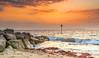 Calm Solent (nicklucas2) Tags: seascape beach groyne isleofwight needles seaside sea sand wave solent