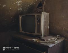 Let me be numb for a while (Explored) (photoMakak) Tags: 6d canon6d canon canonef1740mmf4lusm photomakak mementomori mementomoriphoto urbex decay abandoned abandonné urbanexploration derelict rurex ruralexplorer ruraldecay ruralexploration tv television téléviseur télévision